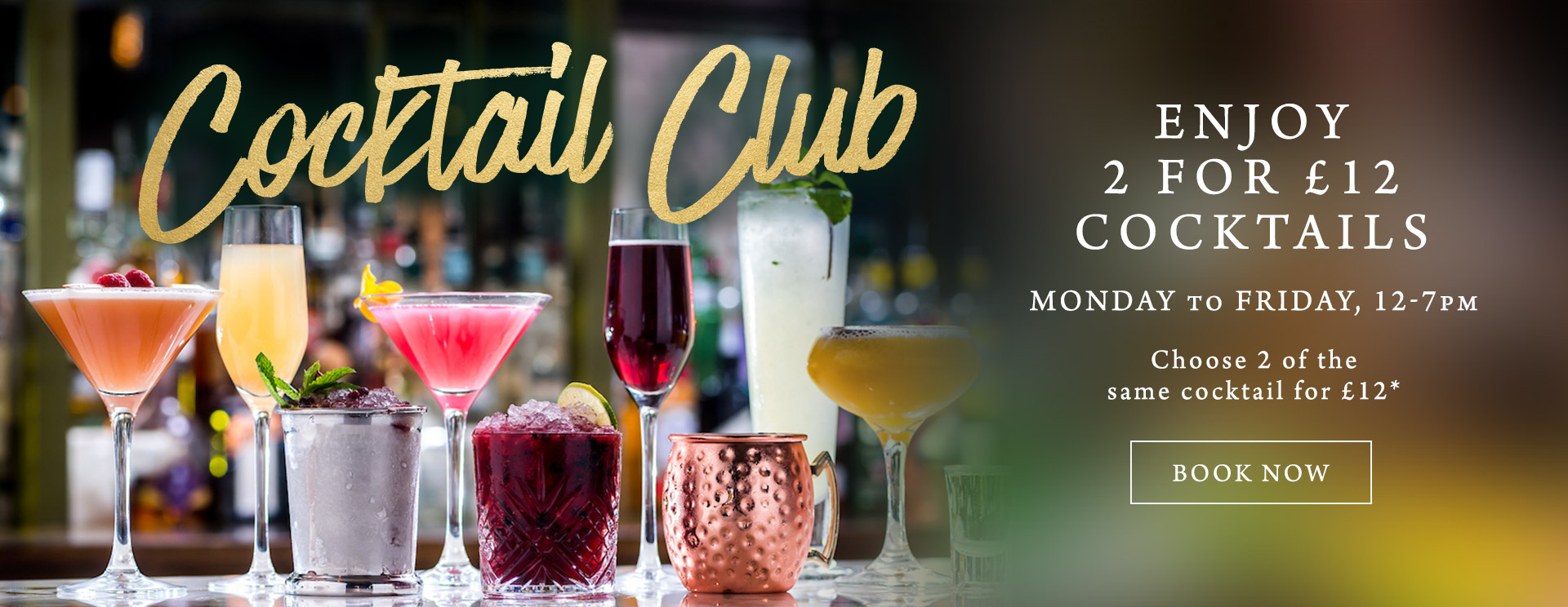2 for £12 cocktails at The Marchmont Arms